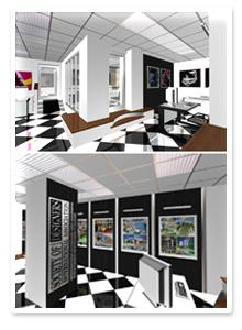 Интерьер офиса для «Союза дизайнеров» в Волгограде