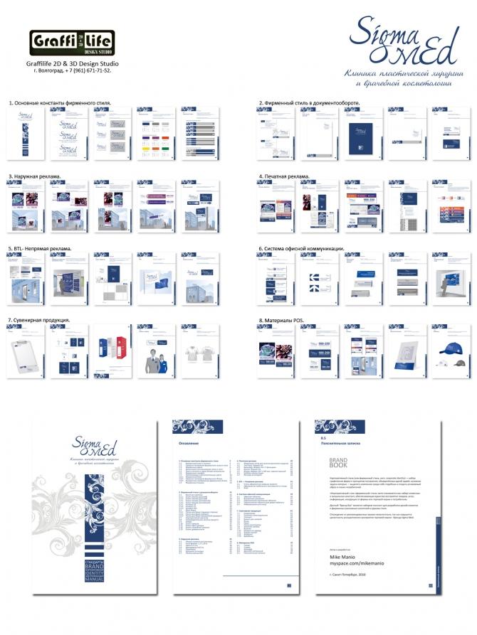 Брендбук и ре-дизайн для клиники Sigma Med