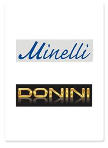 Дизайн полиграфической продукции для бутиков Minelli и Donini