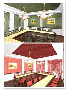Дизайн-проект интерьера банкетного зала