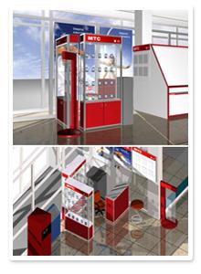 Дизайн-проекты салонов и офисов продаж МТС