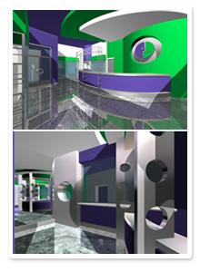 Дизайн-проект офиса продаж Мегафон