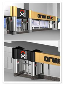 Дизайн наружной рекламы для салонов Огма-Хаус