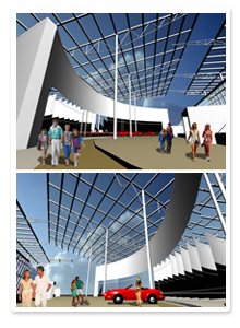 Дизайн-проект и визуализация музея ВАЗ