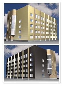 Проект отделки фасадов здания ВИБ
