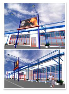 Дизайн-проект фасада магазина Юг России