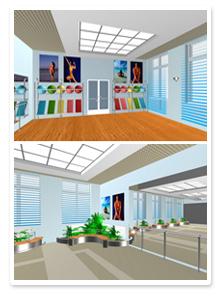 Проект интерьера фитнес зала