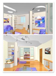 Форэскизы интерьера квартиры