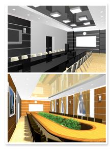 Дизайн-проект интерьера зала заседаний