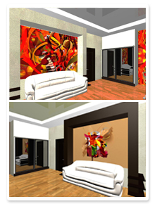 Форэскизы интерьера номера гостиницы