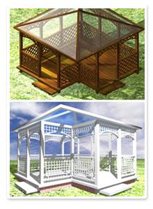 Дизайн-проект садовой беседки