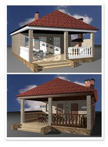 Дизайн-поект дачной бани