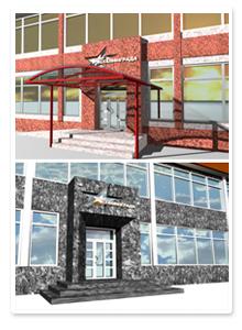 Дизайн-проект фасада гостиницы
