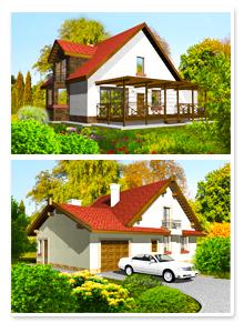 Варианты визуализации загородного дома